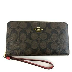 Coach Coach Large Phone Wallet In Signature Coated